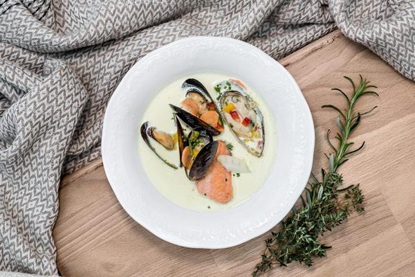 Warme Fischvorspeisen und Suppen - Kulmer Fisch